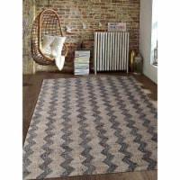 6 x 9 ft. Hand Woven Kilim Jute Eco-Friendly Oriental Rectangle Area Rug, Beige & Charcoal - 1