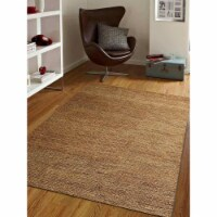 8 x 10 ft. Hand Woven Jute Eco-Friendly Solid Rectangle Area Rug, Beige - 1