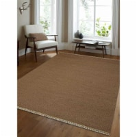 10 x 14 ft. Hand Woven Flat Weave Kilim Wool Solid Rectangle Area Rug, Cream - 1