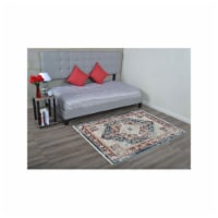 6 x 9 ft. Machine Woven Crossweave Polyester Oriental Rectangle Area Rug, Red