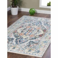 3 ft. 11 in. x 5 ft. 10 in. Machine Woven Crossweave Polyester Oriental Rectangle Area Rug, M - 1