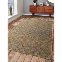 8 x 10 ft. Hand Woven Kilim Jute Eco-Friendly Oriental Rectangle Area Rug, Beige & Gold - 1