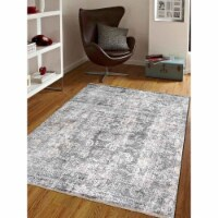 2 ft. x 3 ft. 10 in. Machine Woven Crossweave Polyester Oriental Rectangle Area Rug, Brown - 1
