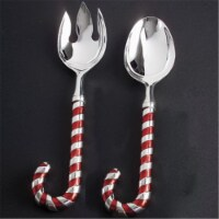 Candy Cane Salad Spoon & Fork - 1