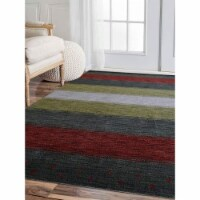 5 ft. 7 in. x 7 ft. 10 in. Hand Knotted Gabbeh Wool Contemporary Rectangle Area Rug, Multi Co - 1