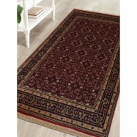 2 ft. 3 in. x 4 ft. 6 in. Hand Knotted Nir Wool Oriental Runner Rug, Red - 1