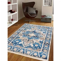 1 ft. 8 in. x 2 ft. 10 in. Machine Woven Crossweave Polyester Oriental Rectangle Area Rug, Bl
