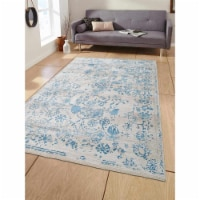 3 ft. 11 in. x 5 ft. 10 in. Machine Woven Crossweave Polyester Oriental Rectangle Area Rug, I - 1
