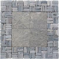 Quartzite Grand Central Alternate Pattern Mosaic - Green - 1