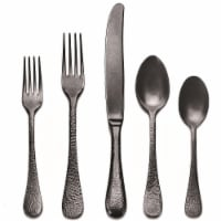 Stainless Steel Place Setting - Epoque Oro Nero Pewter - 5 Piece