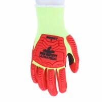 Cut Pro A4 13 Gauge High Visibility Lime Hypermax Shell Foam Nitrile RF Glove, Black - Extra - 1