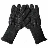 3P Experts Heat Resistant BBQ Gloves  Black - 1