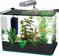 Penn-Plax Water World Radius Curved Corner Glass Aquarium Kit, 7.5-Gallon - 1 each
