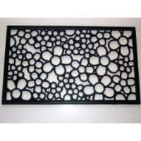 Geo Crafts G163 DAISY RBR-RECT 18 x 30 in. Rubber Rectangle Daisy Scroll Design Doormat