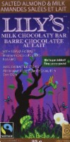 Lily's Sweets Salted Almond & Milk Chocolate bar, 3 oz - 1 Bar/ 3 Ounce