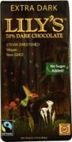 Lily's Dark Chocolate with Stevia Extra Dark -- 2.8 oz - 2 pc