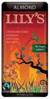 Lily's Dark Chocolate with Stevia Almond -- 3 oz - 2 pc - 2 Bars/ 3 Ounce