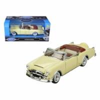 Welly 24016cw-crm 1953 Packard Caribbean Convertible Cream 1-24 Diecast Car Model - 1