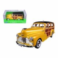 Welly 22083gld 1948 Chevrolet Woody Wagon Fleetmaster Gold 1-24 Diecast Model Car - 1