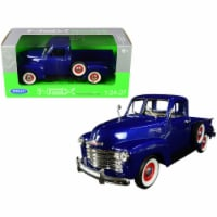 1953 Chevrolet 3100 Pickup Truck Blue 1/24-1/27 Diecast Model Car by Welly - 1