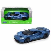 Welly 24082BL 2017 Ford Gt Blue 1-24 - 1-27 Diecast Model Car - 1