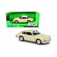 Welly 24087crm 1-24 Scale Porsche 911 Cream Nex Diecast Model Car - 1
