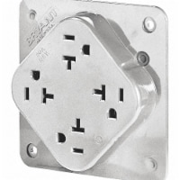 Bryant Receptacle,White,Quad Outlet,20A,125VAC  21254W - 1
