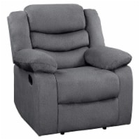 Lexicon Discus Traditional Microfiber Reclining Chair in Gray - 1