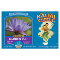 Kauai Coffee Garden Isle Medium Roast Ground Coffee Single-Serve Pods - 12 ct