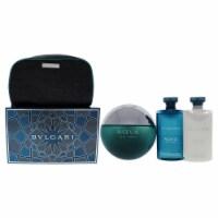 Bvlgari Bvlgari Aqva 3.4oz EDT Spray, 2.5oz After Shave Balm, 2.5oz Shampoo & Shower Gel, Pou