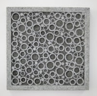 Sandstone square wall decor..w/bubble design 12.5 x 12.5 x 1.5 - 1