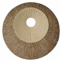 """Round Double Layer Ribbed Wall Plaque 19"""" x 2.5"""" - 1"""