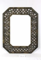 Mirror with Distressed Wood Frame - 1