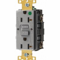 Hubbell Wiring Device-Kellems GFCI Receptacle,20A,125VAC,5-20R,Gray - 1