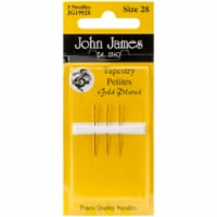 John James Gold Tapestry Petites Hand Needles-Size 28 3/Pkg - 1