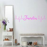VWAQ Familia Heartbeat Line Family Vinyl Decals - 1
