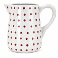 IMAX 60253 Trisha Yearwood Berry Patch Hand - painted Large Pitcher, White