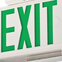 Lithonia Lighting Exit Sign w/Emergency Lights,3W,Grn  ECBG LED M6 - 1