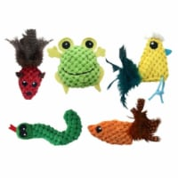 Multipet International 260980 Knobby Knits Cat Toy Pack of 3