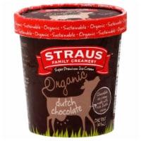 Straus Family Organic Dutch Chocolate Ice Cream - 16 Fl Oz