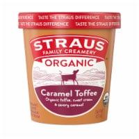 Straus Organic Caramel Toffee Crunch Ice Cream - 1 pt