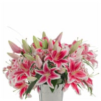 12-Stem Stargazer Lilies with Beargrass (Approximate Delivery is 1-3 Days)