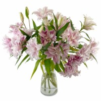 Sun Valley Floral Rose Lily Flower Arrangement in Vase (Approximate Delivery 1-3 Days)
