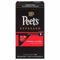 Peet's Coffee Crema Scura Arabica Espresso Coffee Aluminum Capsules