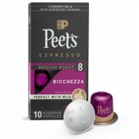 Peet's Coffee Ricchezza Arabica Espresso Coffee Aluminum Capsules