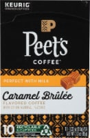 Peet's Coffee Caramel Brulee Flavored K Cup Pods - 10 ct