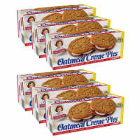 Oatmeal Creme Pies, Big Packs, 6 Boxes, 72 Individually Wrapped Sandwich Cookies - 72