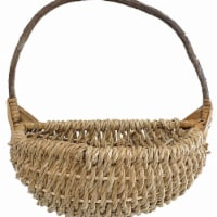 Cheungs CR-25054S-NL Rope Wall Basket with Crazy Vine Handle