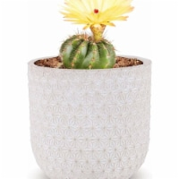 Cheungs 5591GR Abstract Mosaic Pattern Ceramic Planter, Gray - 1