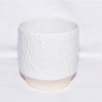 Cheungs 5660WT Rippled Ceramic Planter, White